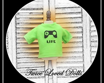 Boy Doll Short Sleeve Graphic T-shirt - Boy Doll Clothes for 18 Inch Dolls like American Girl, Magic Attic and Battat