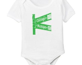 Chicago Michigan Avenue Organic Cotton Baby Bodysuit