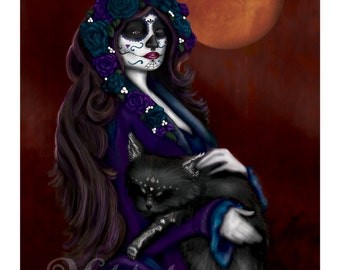 Bella Catrina - Day of the Dead - Art Print