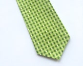 Little Guy Holiday NECKTIE Tie - Green Checkered - (2T-4T) - Boy - (Ready to Ship) St Patrick's Day
