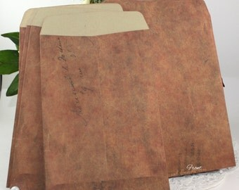 """Brown Envelopes, 4.25""""x 6.5"""", Vintage Style Envelopes, Weddings, Invitations, Stationery, Party Supplies, Paper Goods, Scrapbooking"""