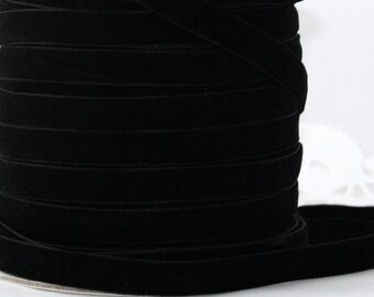 "Black Velvet Ribbon, 3/8"" wide, Ribbon by the yard, Sewing, Crafts, Christmas Ribbon, Trim, Gift Wrap, Wreaths, Weddings, Party Supplies"