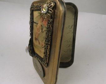 "Gift Card Holder, Altered Altoid Tin ""Dream""  Decorative Presentation or Trinket Tin"