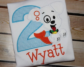 Personalized Bubble Guppy Birthday Shirt with Number and Dog Puppy