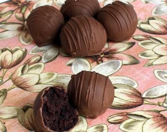 Chocolate Chocolate Cake Truffles- 1 Dozen