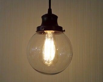 Biddeford II. Clear Glass PENDANT Light