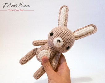 MADE to ORDER - Amigurumi Woodland Critter Rabbit - crochet animal plush, amigurumi rabbit toy, cute crochet Easter bunny , rabbit plush