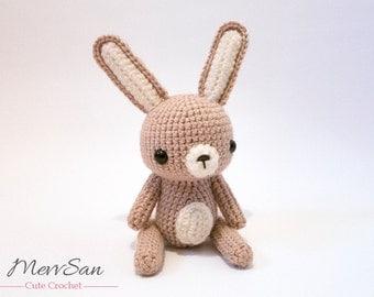 Crochet PATTERN PDF - Amigurumi Woodland Critter Rabbit - crochet animal pattern, amigurumi rabbit pattern, Easter bunny, rabbit plush