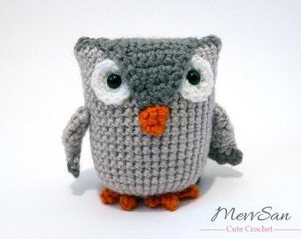 Crochet PATTERN PDF - Amigurumi Owl - crochet animal, halloween, owl plush, amigurumi toy, softie, doll