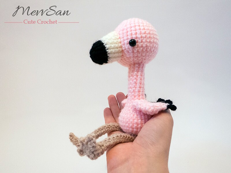 Amigurumi Flamant Rose : MADE to ORDER Amigurumi Flamingo amigurumi bird toy cute