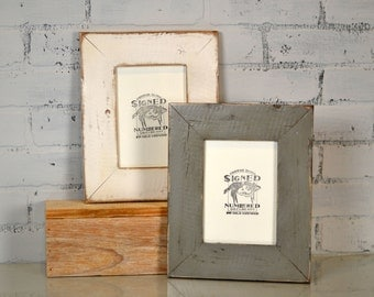 "5x7 Picture Frame in 2.25"" wide Rustic Reclaimed Pallet Pine in Finish COLOR of YOUR CHOICE - Handmade 5 x 7"