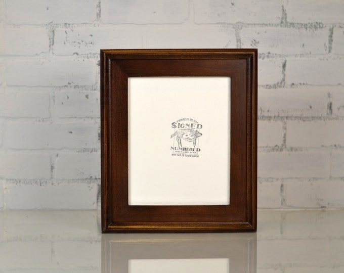 "8x10"" Picture Frame in Double Cove Build Up Style in Finish Color of YOUR CHOICE - Rustic Wooden Frame - 8x10 Photo Frame"