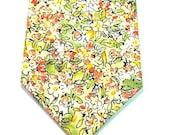 Yellow Necktie Yellow Floral Neckties Mens Neckties Neckties Custom Cotton Neckties