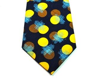 Navy Neckties Navy and Mustard Neckties Mens Neckties Wedding Neckties Navy Dot Neckties