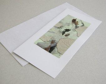 Art Card - Collage Card - Eco Friendly Card - Botanical Card -  Handmade Card - One Of a Kind Card - Birthday Card