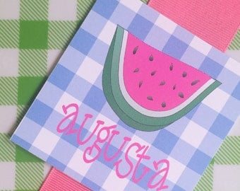 Summer watermelon gift tags