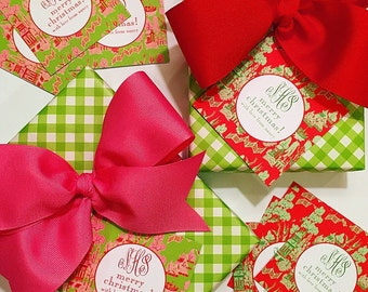 Christmas chinoiserie gift tags