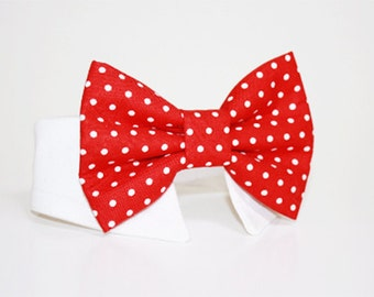 Dog Bow Tie- Shirt and Bow Tie Collar- More Colors Available