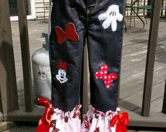 Custom little girls jeans