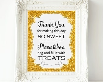 Gold Sparkle Candy Bar Sign, PRINTABLE Candy Buffet Sign, Sweets Table, Candy Bar, Bridal Shower, Baby Shower, Wedding Sign, Top Seller