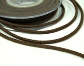 Wrapped cotton cord, cotton rope, brown, 1 meter