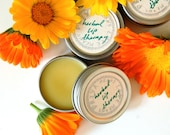 Herbal Lip Therapy - Organic Super-Nourishing Lip Balm with Calendula and Immortelle (0.15 oz tube or 1/2 oz tin)