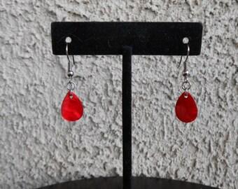Red Shell Earrings