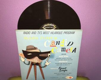 SHOP CLOSING SALE Rare Vinyl Record Allen Funt's Candid Camera Lp 1950s Spoken Word Comedy Tv Classics