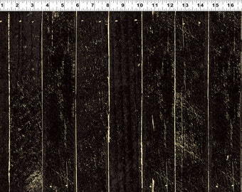 Jeepers Creepers Halloween Fabric Black Tonal Wood Boards by Dan DiPaolo Collection Y1915-03