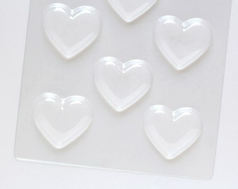 Heart Chocolate Candy Mold, Valentine's Day Chocolate Heart Mold, Wedding Favor, Heart Candy Mold