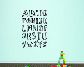 Alphabet Doodle - Nursery and Kid's Room Playroom Wall Decals