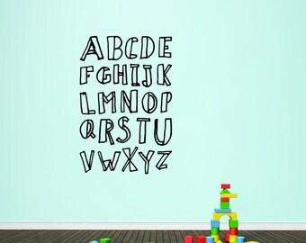 Alphabet Doodle - Nursery and Kid's Room Playroom Wall Decals