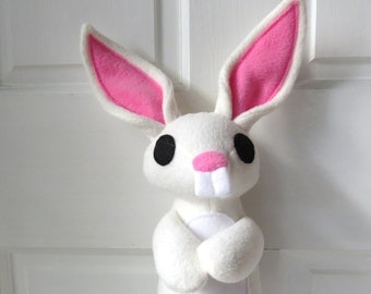 White Rabbit Plush, Bunny Plush, White Bunny Rabbit