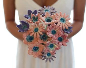 Romantic Wedding Bouquet Bridal bouquet, Wedding bouquet alternative Shabby Chic Rustic Wedding Keepsake Bouquet