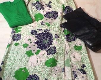 Extraordinary Zinnia Daisy Tulip Print Maxi Skirt