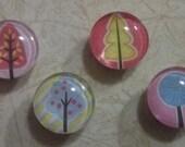 Magnets, refrigerator magnets, kitchen magnets, set of four, kitchen decor, kitchen decoration