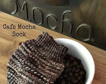 KNITTING PATTERN-Cafe Mocha, Sock Pattern