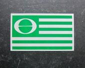 Ecology Flag Earth Day Symbol Vintage 70s Bumper Sticker
