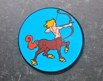 Sagittarius the Archer Centaur Astrology 70s Sticker