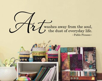 Picasso Quote Etsy