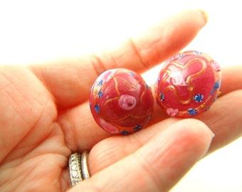 Venetian Glass Earrings - Wedding Cake - Italy - Vintage