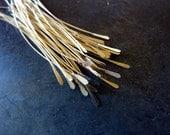 50pcs - Hammered Paddle Gold Filled Headpins - 28 Gauge - Pick Your Length - Tagt Team