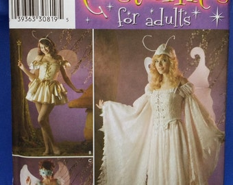 Sewing Pattern Simplicity 3675 Multi-Sized 14-20 Uncut Unused Fairy Faerie Dress Gown Long or Short Fantasy Costume Free Shipping