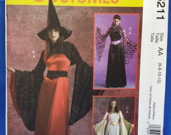 Sewing Pattern McCall's 5211 Vampire Dracula Dress Gown Bolero LOTR Princess Multi-Sized 6-12 Uncut Unused Costume Free Shipping