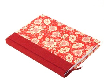red floral 2018 weekly planner A6