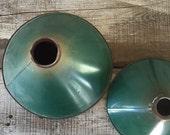 Vintage green metal lampshades