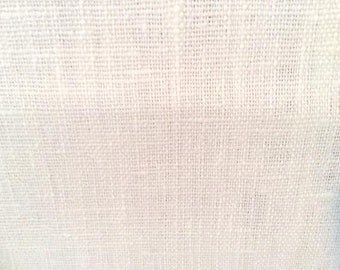 Ivory solid LINEN upholstery fabric, 11-60-01-1013