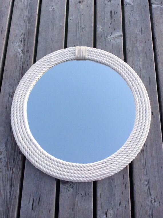 round nautical rope mirror. Black Bedroom Furniture Sets. Home Design Ideas