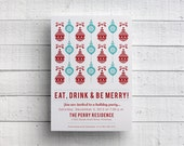 Printable Holiday Party Invitation Digital File for Self-Print