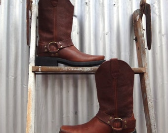 durango, men's harness boot, chocolate brown, size 8